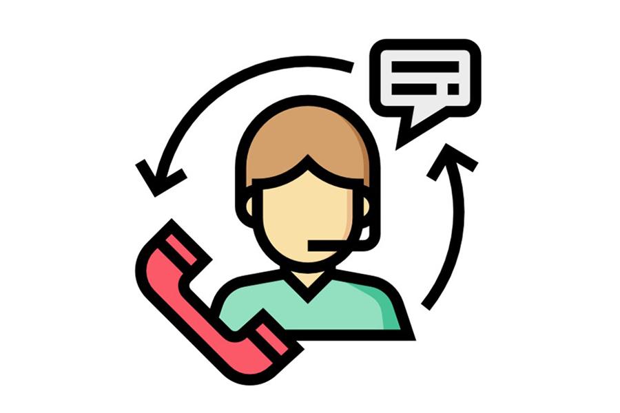 icon of customer service rep